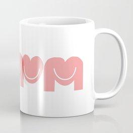Love mom/mum (smiley pink hearts) Coffee Mug