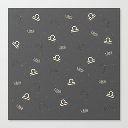 Libra Pattern Canvas Print