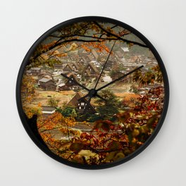 Shirakawago Wall Clock
