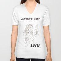saga V-neck T-shirts featuring DarkLife Saga Characters: Irulan  by Ronnie Massey