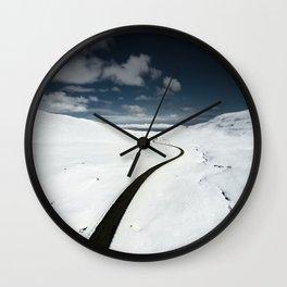westfjords aerial view Wall Clock