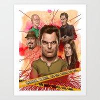 dexter Art Prints featuring Dexter by Nithin Rao Kumblekar