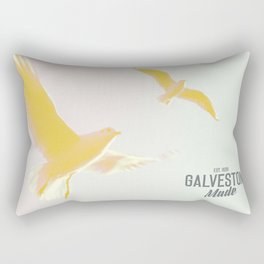 Galveston Island Seagulls Rectangular Pillow