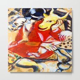 Marc Chagall To My Betrothed Metal Print