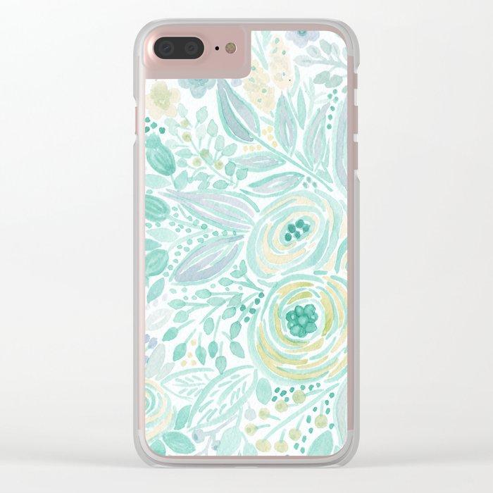 Watercolor . Flower meadow . 2 Clear iPhone Case