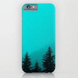 0345v2 Turquoise Fog - Seward, Alaska iPhone Case