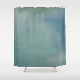 Watercolour Lagoon Shower Curtain