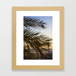 Summer Feels with Palms Framed Art Print