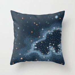 Grey Rift Galaxy (8bit) Throw Pillow