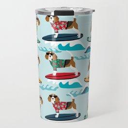 Beagle surfing pattern cute pet gifts dog lovers beagles Travel Mug