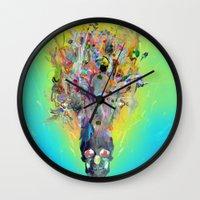 archan nair Wall Clocks featuring Revival by Archan Nair
