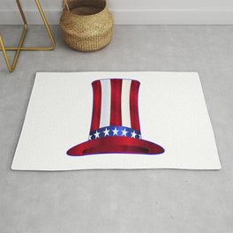 Uncle Sam's Tall Hat Rug