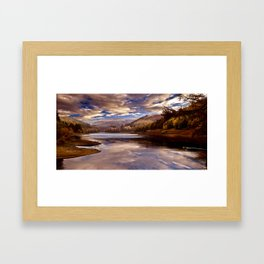 Big Sky over the Valley Framed Art Print