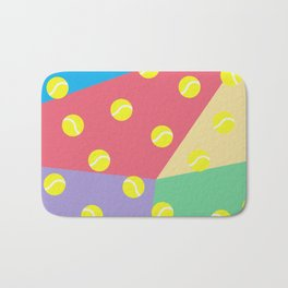 Tennis 80's Vintage Pattern Bath Mat
