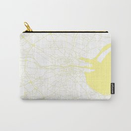 White on Yellow Dublin Street Map Carry-All Pouch