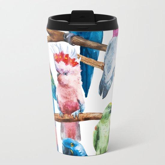 Parrot Pattern 01 Metal Travel Mug