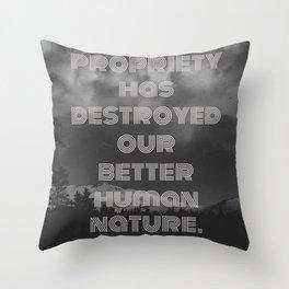 Some Proper BS Throw Pillow