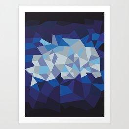 Blue Diamond Illustration Art Print
