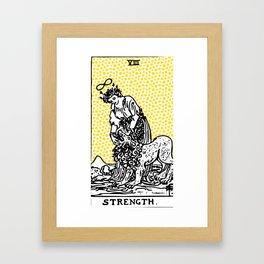 Modern Tarot Design - 8 Strength Framed Art Print