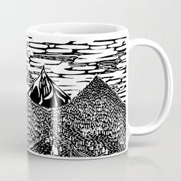 Mountain Block Print Coffee Mug