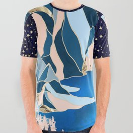 Star Peaks All Over Graphic Tee