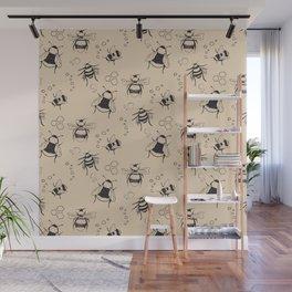 Honeybee Pattern Wall Mural