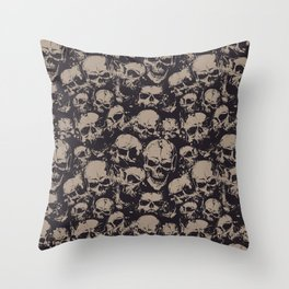 Skulls Seamless Throw Pillow