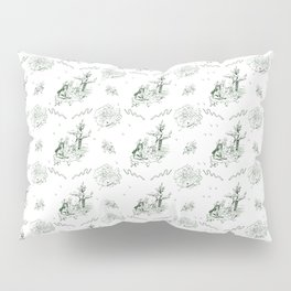 Slytherin Toile Pillow Sham