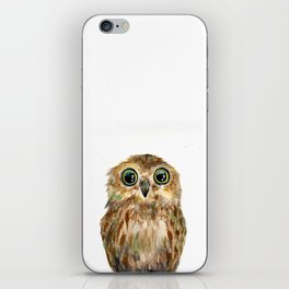 watercolor painting owl iPhone Skin
