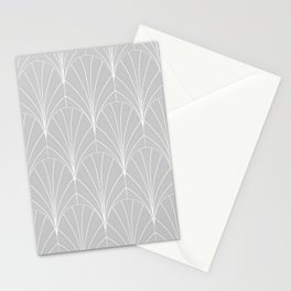 Art Deco Waterfalls // Grey & White Stationery Cards