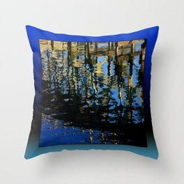 little lost grebe Throw Pillow