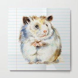 The small hamster Metal Print