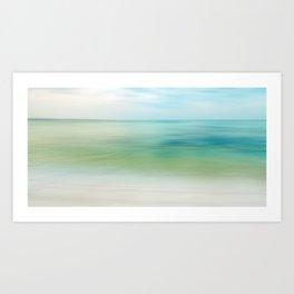 the beautiful sea Art Print