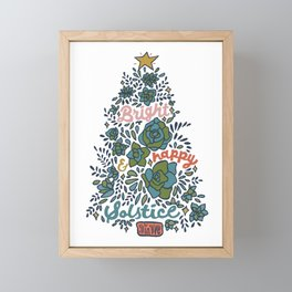Bright and Happy Solstice Framed Mini Art Print