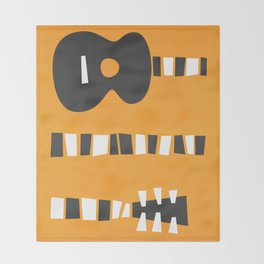 Retro Guitar Throw Blanket