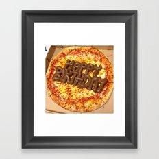 Pizza Poop Framed Art Print