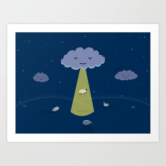 How Clouds Stay Fluffy Art Print