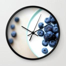 Blueberries & Yogurt  Wall Clock