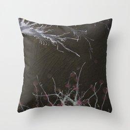 Winter ends Throw Pillow