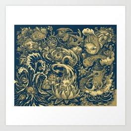waves-t Art Print