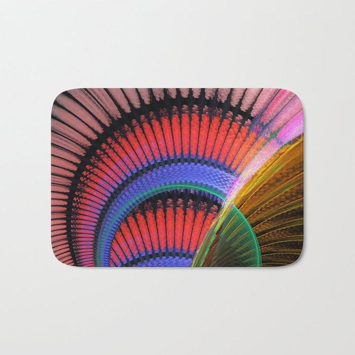 Groovy textured colourful abstract Bath Mat
