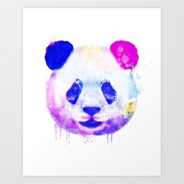 Panda Watercolor, Panda Print, Watercolor Print, Watercolor Animal, Panda Painting, Panda Gift Print Art Print