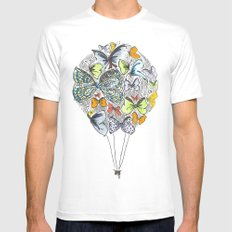 Bows & Butterflies MEDIUM Mens Fitted Tee White