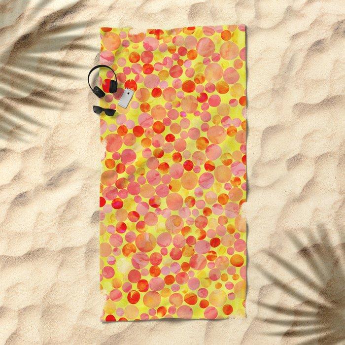 Confetti Pattern 03 Beach Towel