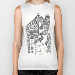 45. Halloween Castle with Henna Wall Biker Tank