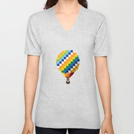 Pixel BTS Young Forever Hot Air Balloon Unisex V-Neck