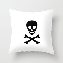 SKULL - BLACK Throw Pillow