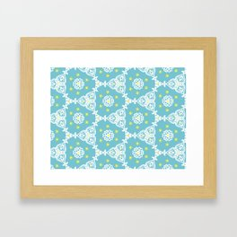 Lacy Blue Framed Art Print