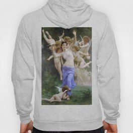 The Invasion (The Wasp's Nest) Le Guêpier by William-Adolphe Bouguereau Hoody