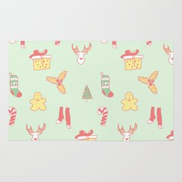 Pastel Bright Christmas Rug